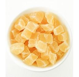 Getrocknete Ananas-Würfel